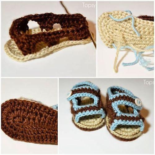 DIY : Crochet Baby Sandals | DIY  Crafts Tutorials @Emily Schoenfeld Schoenfeld Schoenfeld Densel