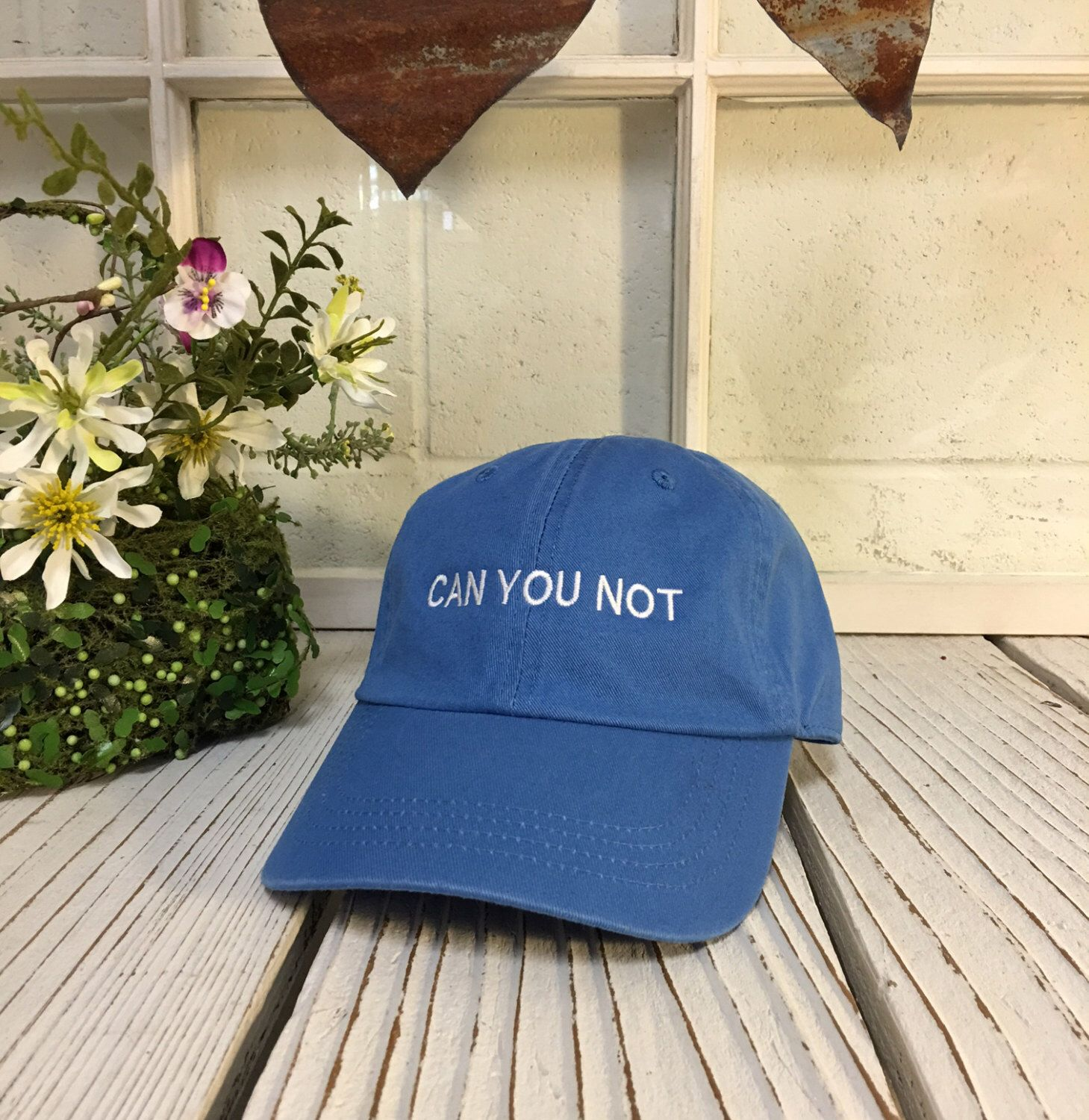 Vintage CAN YOU NOT Baseball Cap Low Profile Dad Hats Baseball Hat  Embroidery Sky Blue  b7727d096758