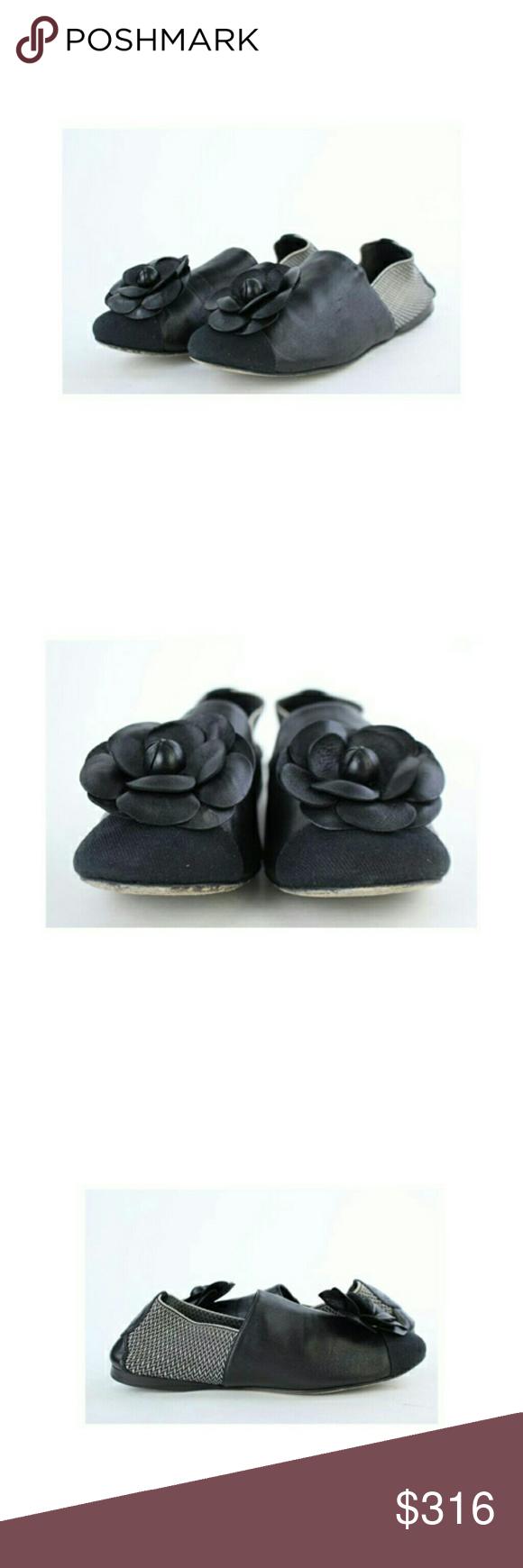 4096b3da1e73 Spotted while shopping on Poshmark  Chanel Black Camellia Ballerina 14ct927  Flats!  poshmark  fashion  shopping  style  CHANEL  Shoes