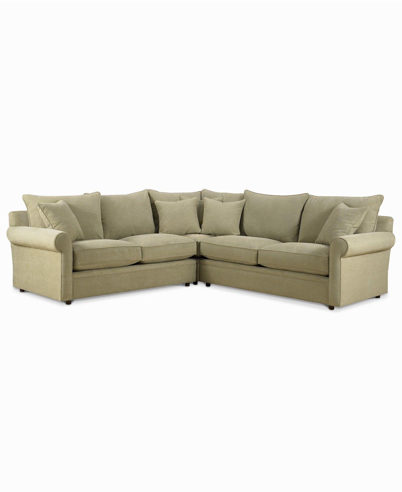 Doss Fabric Microfiber 3-Piece Sectional Sofa - Furniture ...