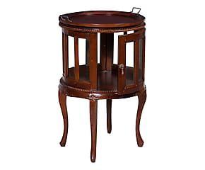 Tavolino Vassoio ~ Tavolino da bar in legno con vassoio e teca bean d h cm