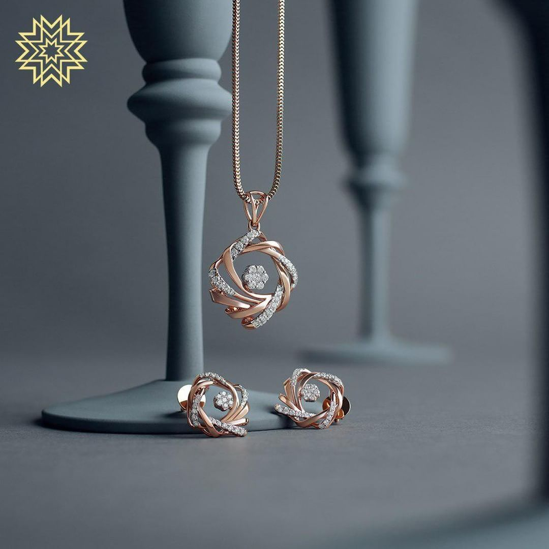 Irresistable Gold & Dimond Pendant Sets For Minimal Jewellery Lovers!