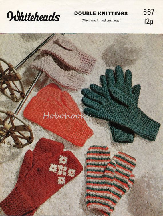 Womens Mens Adult Gloves Knitting Pattern Pdf Download Mittens Mitts