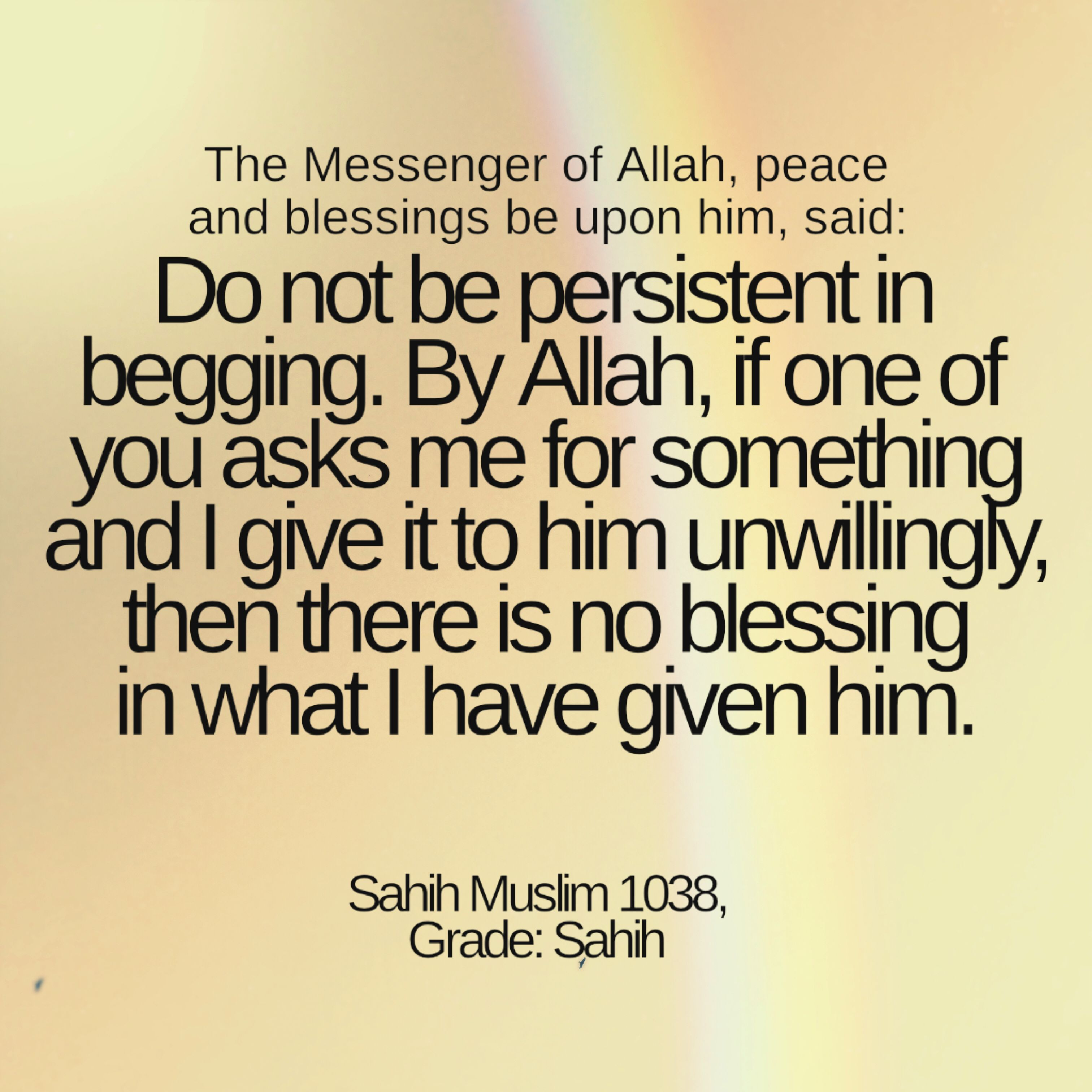 Essay on begging in islam thesis about death and dying