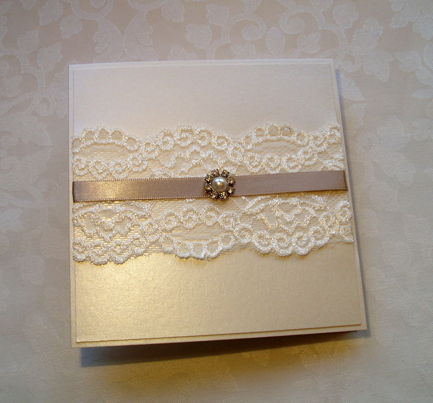 Lace wedding invitation - from my \'Coffee with Cream\' collection ...