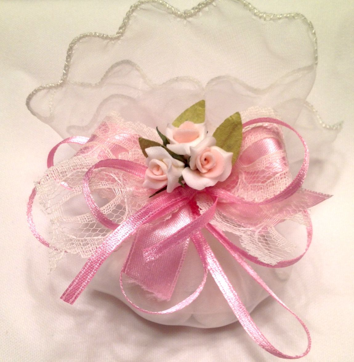Vintage Pink Tulle Pouch - Our decorated tulle pouches are decorated ...