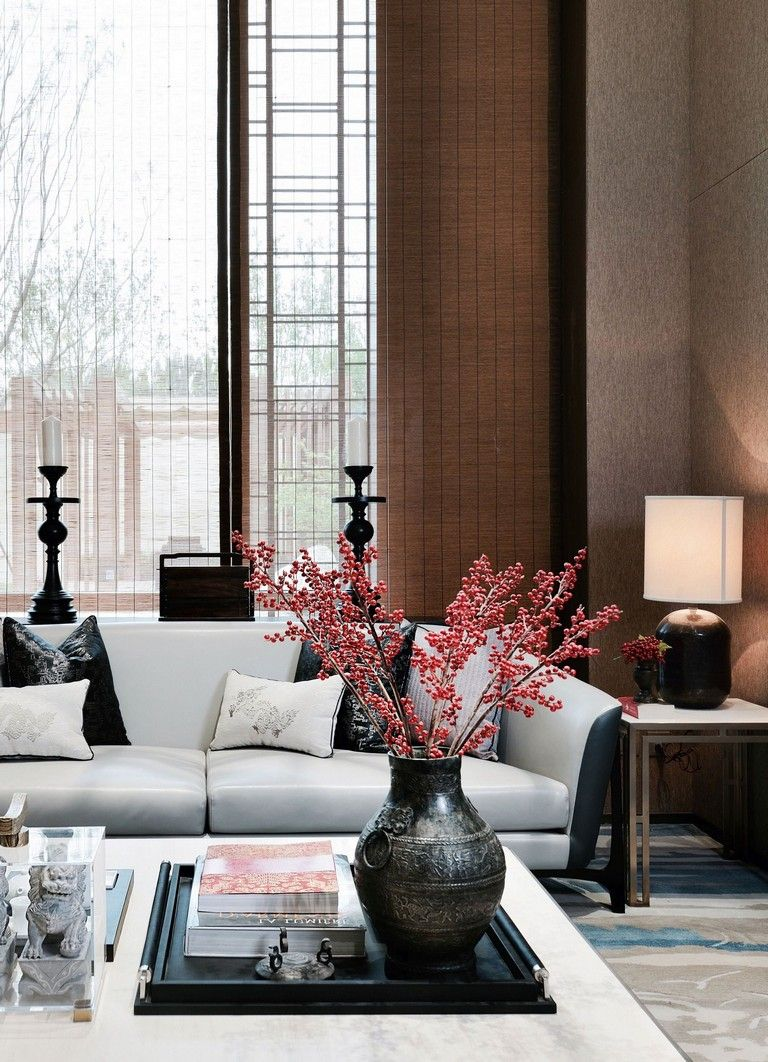 39 Amazing Interior Modern Style Ideas To Update Your Living Room Livingroom Livingroomdeco Asian Living Rooms Asian Home Decor Red Living Room Color Scheme Asian decor living room