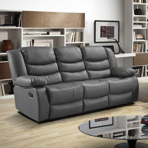 Trista 3 Seater Reclining Sofa Zipcode Design Upholstery Colour Dark Grey In 2020 Living Room Sets Sofa Contemporary Sofa