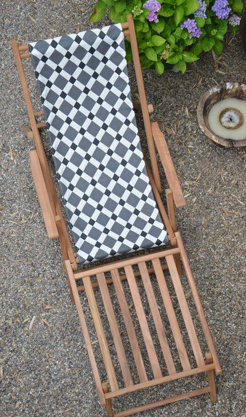 Maxx Deckchair Im Grafischen Ambra Muster Von Jan Kurtz U2013 Blickfang Auf  Balkon Und Terrasse