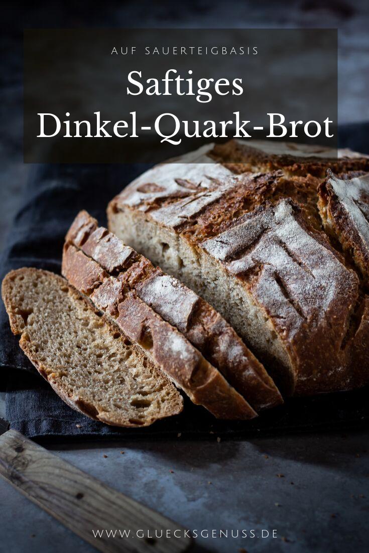 Saftiges Dinkel-Quark-Brot mit Sauerteig / vegan - Glücksgenuss