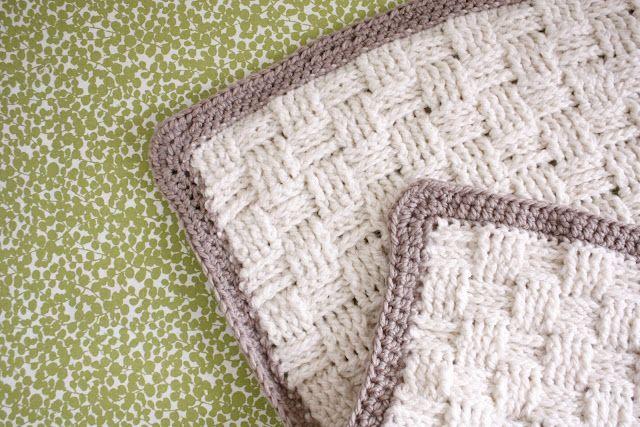 Basket Weave Crochet Baby Blanket pattern