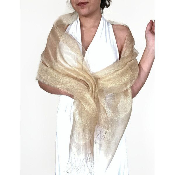 5cf144947ae Gold Wedding Silk Shawl