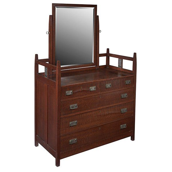 stickley brothers inlaid bedroom suite  lot 224