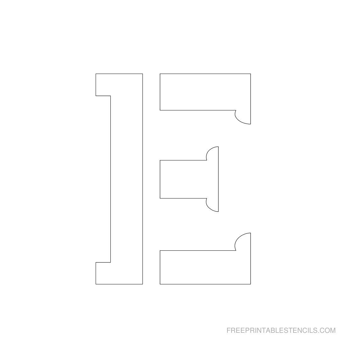 Printable 3 inch letter stencil e crafts pinterest stenciling printable 3 inch letter stencil e spiritdancerdesigns Image collections