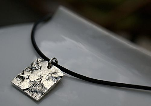 Meteora pendant. Recycled silver.