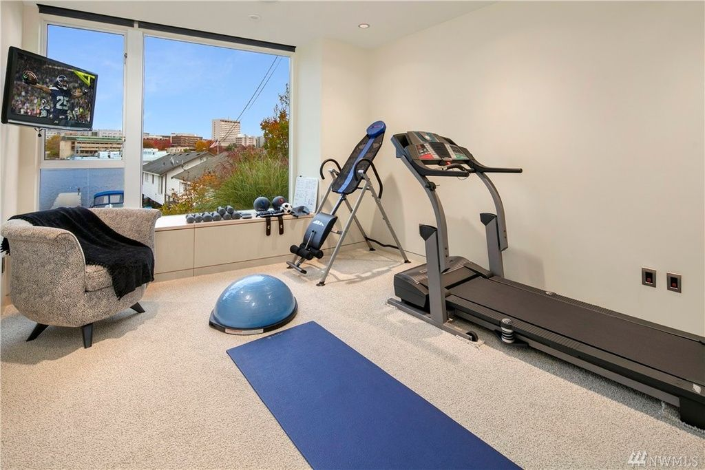 Small Home Gym With Water View Home Gym Ideas Pinterest - Small home gyms