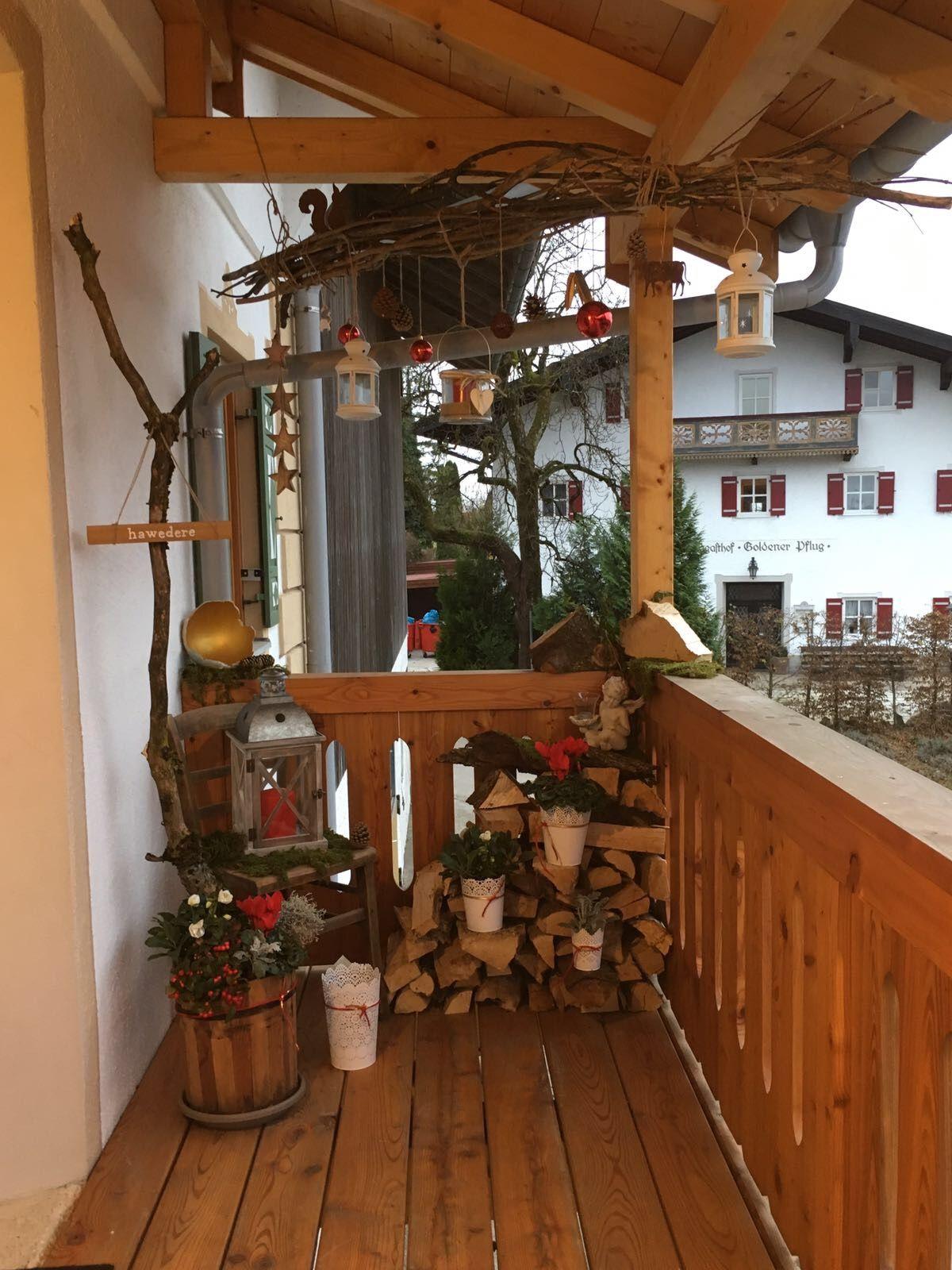 Hauseingang Weihnachten