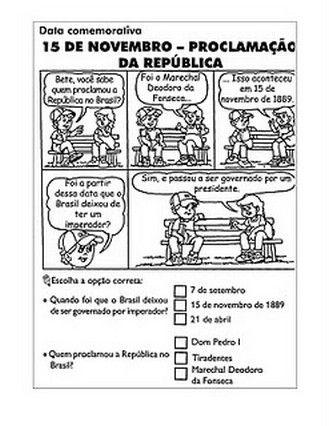 30 Atividades 15 De Novembro Proclamacao Da Republica Desenhos