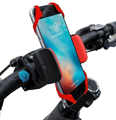 Widras Red Bike Phone Mount Bicycle Holder Universal Cradle Clamp