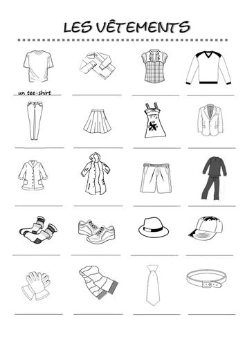 Les habits Qu'est-ce que tu portes? Qu&'est-ce que tu aimes ...