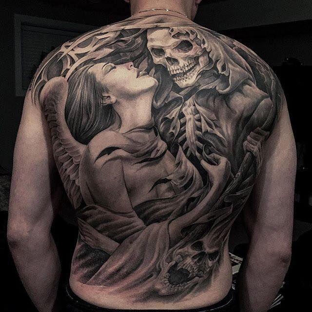 Grim Reaper Back Tattoo: Pin Auf Tattoo