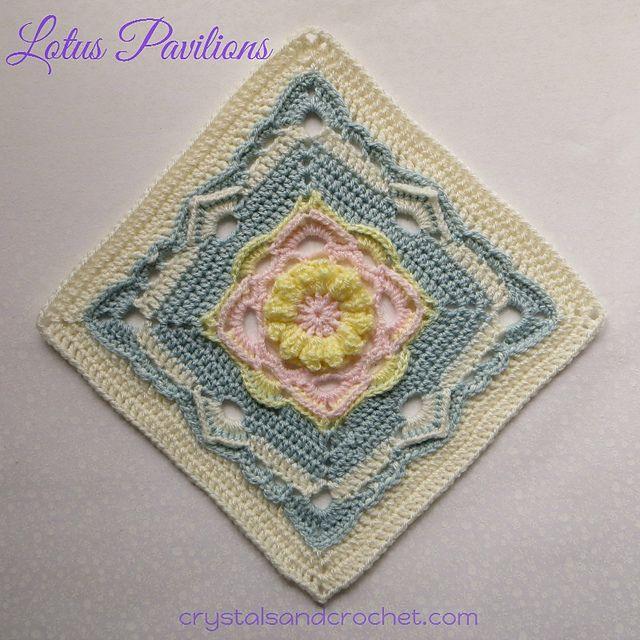 patrón de Lotus pabellones de Helen Shrimpton: Ravelry | Muestras de ...