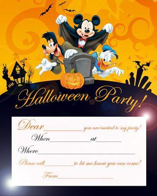 Disney Halloween Party Invitation Card Printable - Best Gift Ideas