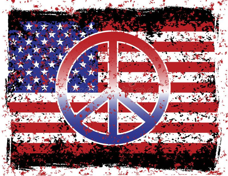 American Peace An Illustration Of The American Flag And Peace Symbol With Grung Aff Flag Peace Symbol American In 2020 Peace Sign Art Hippie Peace Peace
