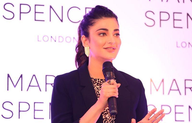 Actress Shruti Hassan Speech At Mark & Spencer 75th Store Launch