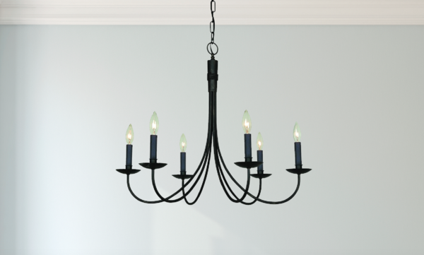 340 Dining Room James James Modern Farmhouse Wrought Iron 6 Light Black C Farmhouse Dining Room Lighting Dining Chandelier Farmhouse Dining Room Chandeliers