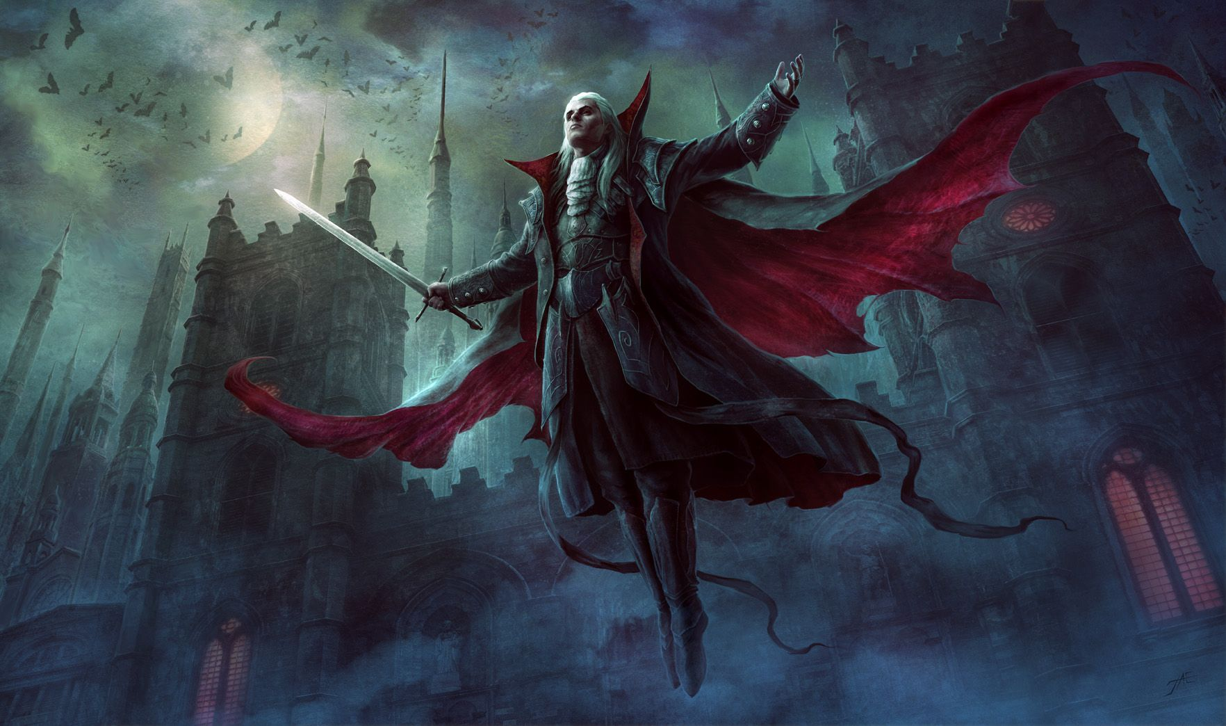 City of aThousand Steeples | Vampire art, Fantasy artwork, Art