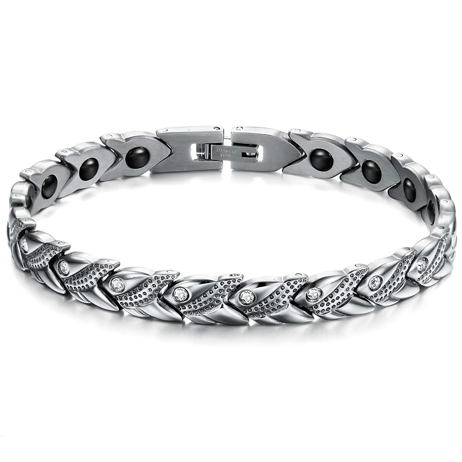 ASTERIA Jewelry Fashion Titanium Stainless Steel Bracelet Bangle for Men Women Simple Korean Style