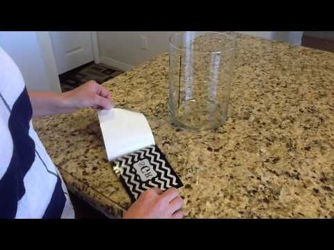 How To Apply A Vinyl Decal To A Glass Vase YouTube - Custom vinyl decal application fluid recipe