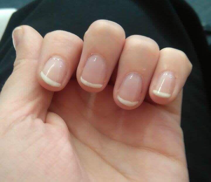 Gel Nails French Tip Short