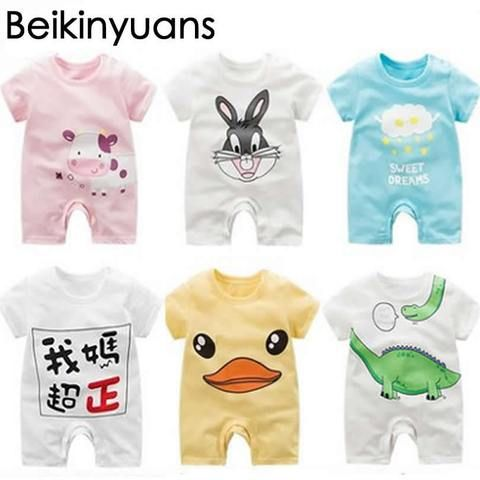 7ae0a1afe06 Newborn Baby clothes Summer Girl Romper Clothes Cute Bebes Summer Outfit  Sunsuit Jumpsut Baby Shorts Sleeves Cotton 0-24Month