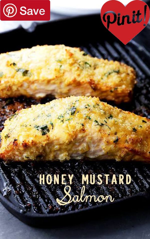 Honey Mustard Salmon #delicious #diy #Easy #food #love #recipe #recipes #tutorial #yummy @ICookUEat - Make sure to follow @ICookUEat cause we post alot of food recipes and DIY we post Food and drinks gifts animals and pets and sometimes art and of course
