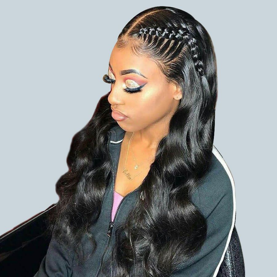 150 density 13x6 lace front wigs brazilian body wave human