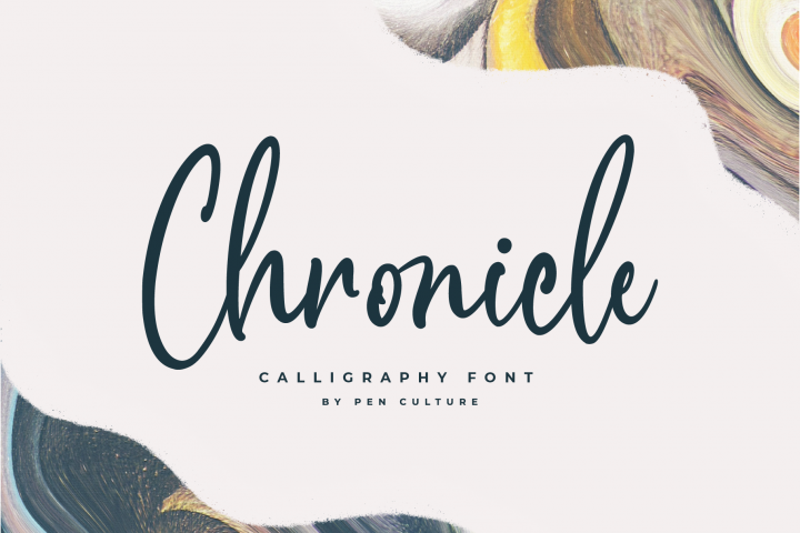Chronicle Calligraphy Font in 2020 Calligraphy fonts