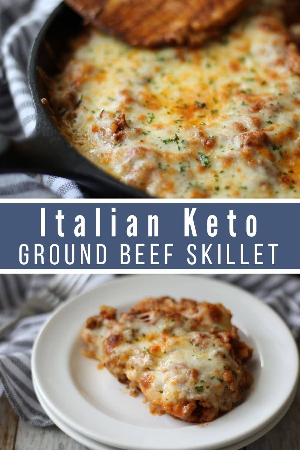 Low Carb Ground Beef Recipe Italian Keto Beef Skillet Recipe Beef Recipes For Dinner Easy Skillet Meals Beef Skillet Recipe