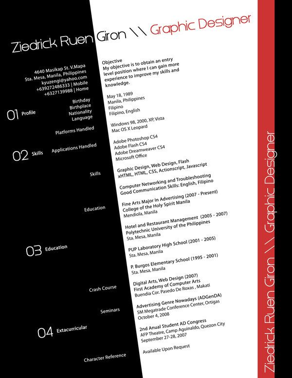 Resume Organization And Modern Art Look  Marketing Ideas