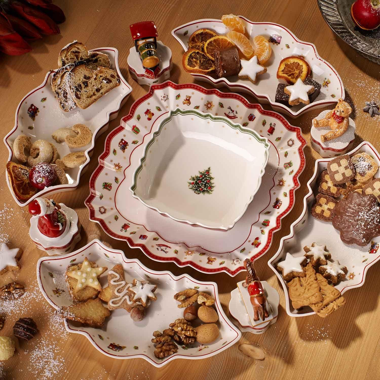 Villeroy Boch Toy S Delight Dinnerware Square Coupe Dinner Plate Serving Platter 26cm H 3cm L 26 In 2020 Christmas Dinnerware Christmas Dishes Christmas Plates