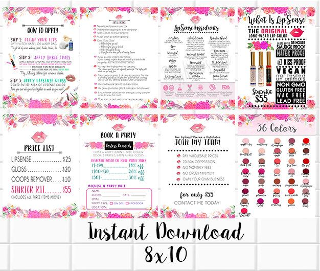 Lipsense Party And Vendor Display Graphics  Files  Watercolor