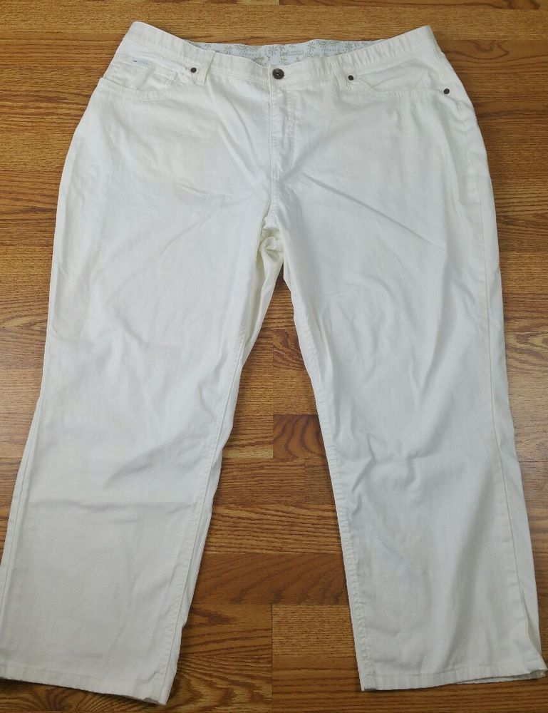 Details about Lee Comfort Waistband Stretch Women's White Jeans ...