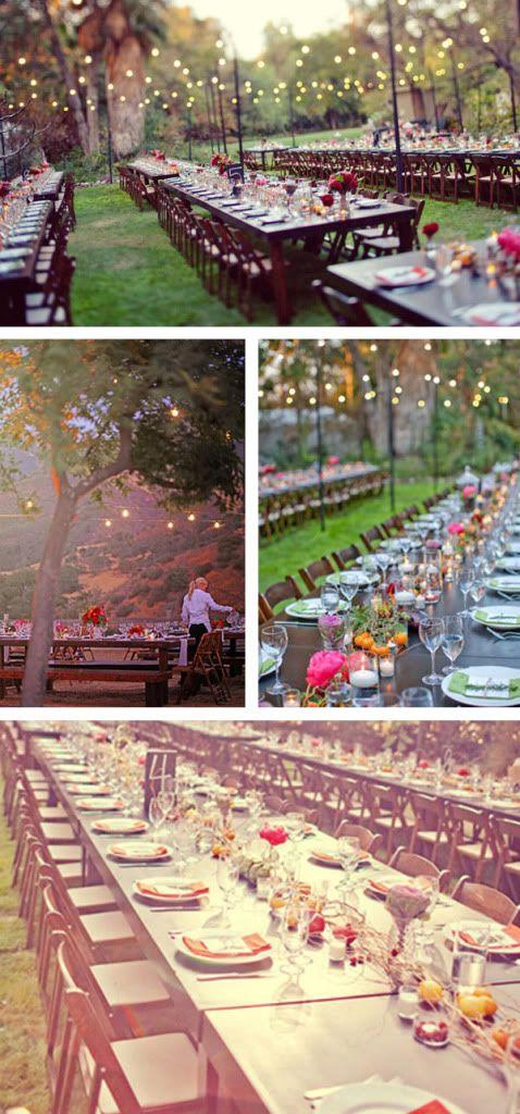 mesas largas, genial! | Love Party | Mesas largas ...