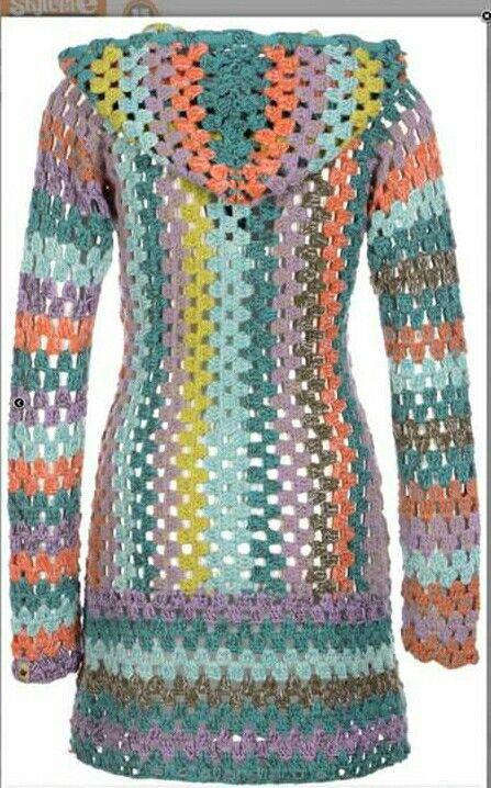 Granny muster jacket | crochê | Pinterest | Häkeln, Jacke häkeln und ...