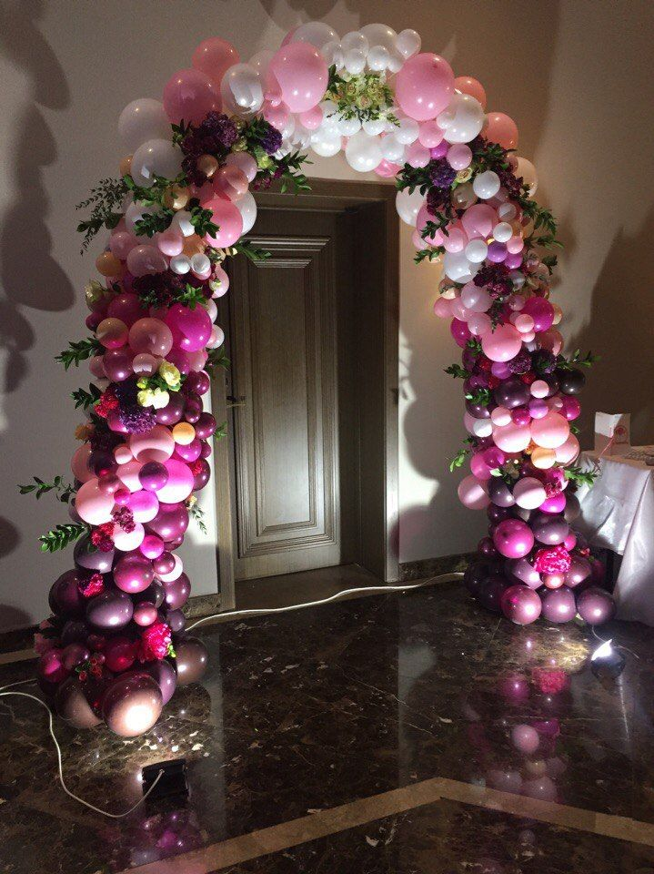 Balloon arches pinterest arch for Arch balloon decoration