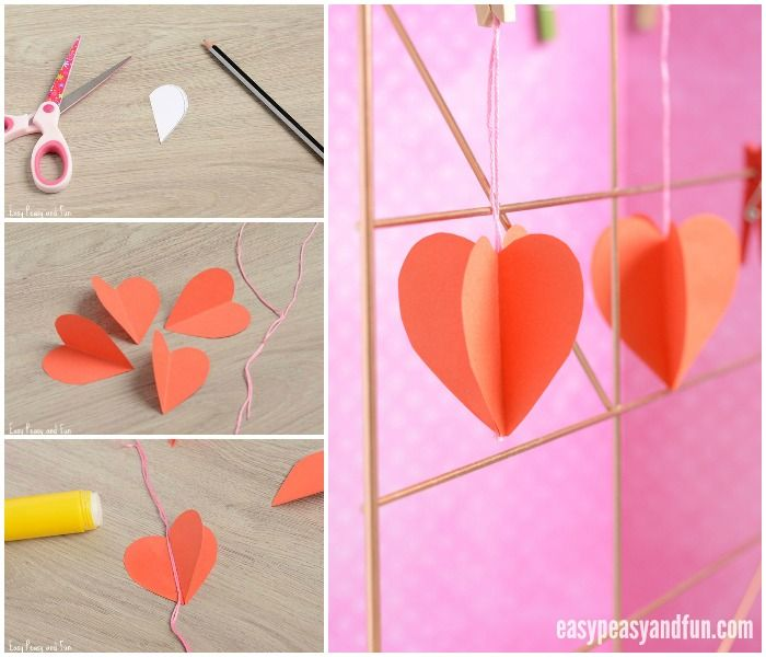 3d Paper Heart Craft Teaching Pinterest Heart Crafts Paper