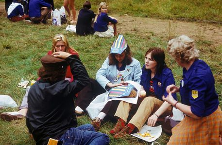 Youth activists of the FDJ at the 10th World Festival of Youth and Students (1973) in Berlin