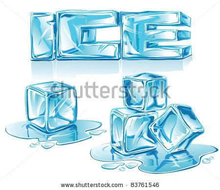 Ice Cubes Vector Ice Letters And Ice Cubes On White Background Stock Vector Ice Cube Drawing Ice Typography Ice Drawing