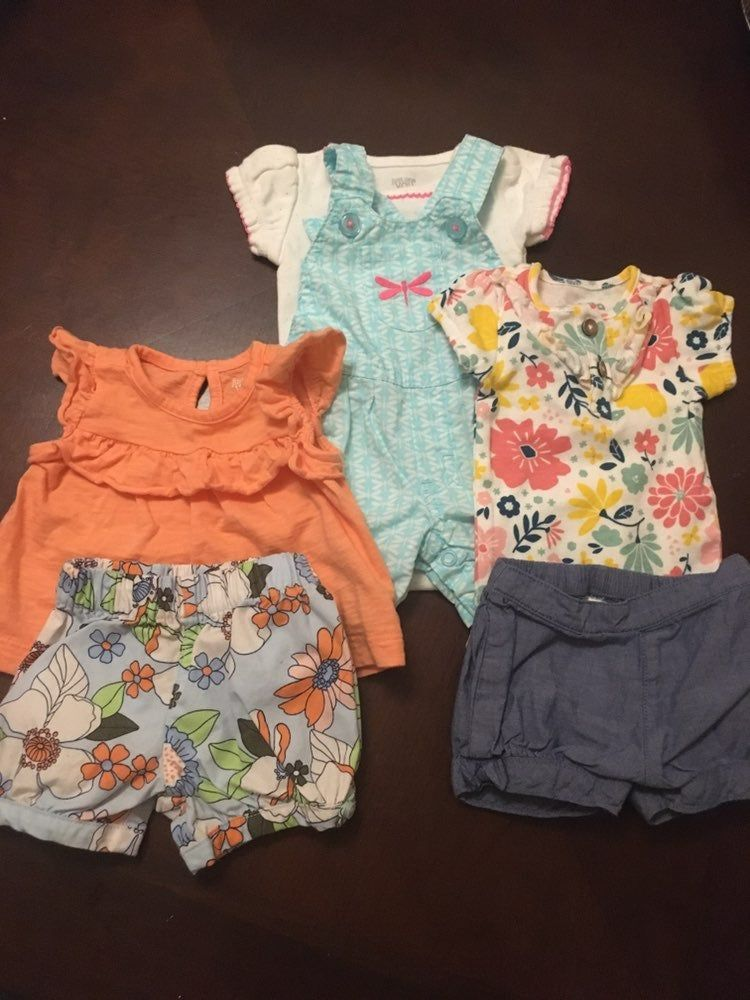 NWT Carter/'s Baby Boy Size Newborn 3 mo Outfit Romper One piece Summer Lot